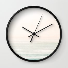 Washed Out Ocean Waves // California Beach Surf Horizon Summer Sunrise Abstract Photograph Vibes Wall Clock