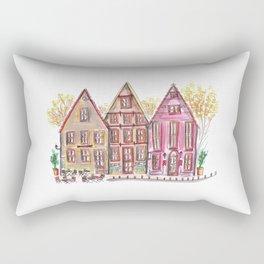 Coloured houses II Rectangular Pillow