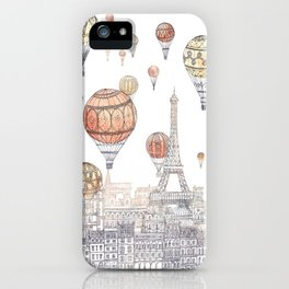 Voyages Over Paris ~ Refresh iPhone Case