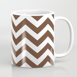 Chocolate Brown Chevron Zig Zag Pattern Coffee Mug