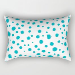Dots turquoise modern minimal dorm college office minimalist decor Rectangular Pillow
