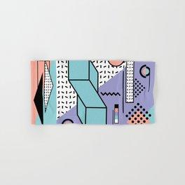 Memphis Pattern - 80s Retro - Pastel Colors Hand & Bath Towel