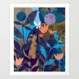A Friend Flutters Art Print