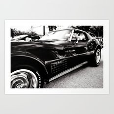Black Chevrolet Corvette Stingray Car Art Print