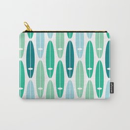 Vintage Surf Boards in Turquoise, Teal and Blue Carry-All Pouch
