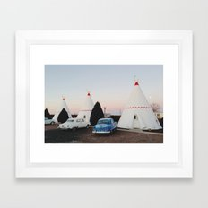 Wigwam Motel Framed Art Print