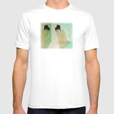 fear of reflection White Mens Fitted Tee MEDIUM