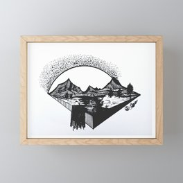 """Big Sun Pass"" by Dark Mountain Arts Framed Mini Art Print"