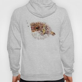 Little cute Fish, Puffer fish, cut fish art, coral aquarium fish Hoody