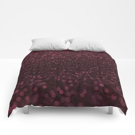 DARK RUBY GLITTER SPARKLING LIGHTS Comforters