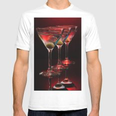 Red hot martinis. Mens Fitted Tee White MEDIUM