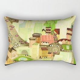 Busy day town Rectangular Pillow