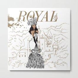 Kayla Royal Metal Print