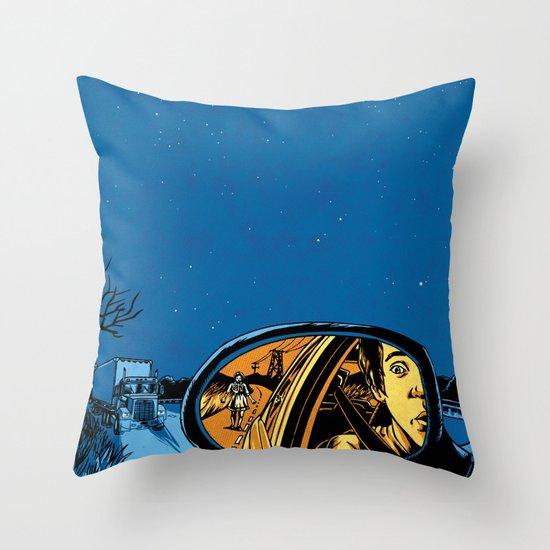 Night Drive Throw Pillow