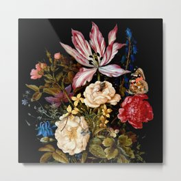 "Ambrosius Bosschaert the Elder ""Still life with flowers"" Metal Print"