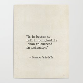 Herman Melville quote 1 Poster