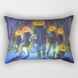 Attack of the Jack-O-Lanterns Rectangular Pillow