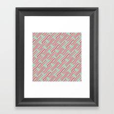 Frying Bacon Over Green Framed Art Print