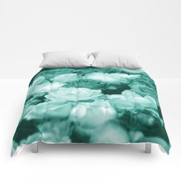 Teal Roses Comforters