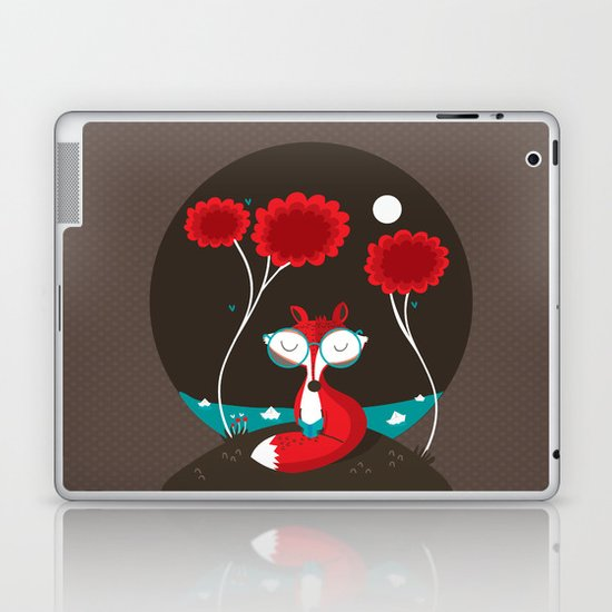 About a red fox Laptop & iPad Skin