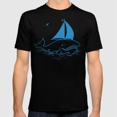Whaleboat Mens Fitted Tee MEDIUM Black