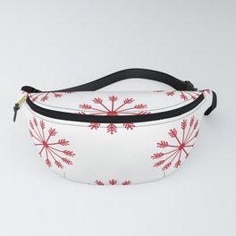 Snowflakes - white and red Fanny Pack