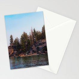 beautiful scenic at Emerald bay Lake Tahoe California USA Stationery Cards