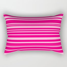 Bright hot and pale pink abstract horizontal linework Rectangular Pillow