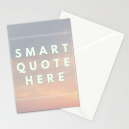 Funny Smart Quote Mockup Text Stationery Cards
