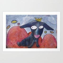 Dogprincess Art Print