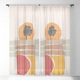 Modern shapes 4 Sheer Curtain
