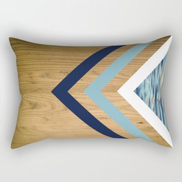Wood Water Waves Geometric Hipster Triangels Rectangular Pillow