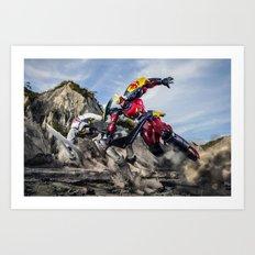 gurren battle Art Print