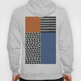 Scandinavian Design, Blue Orange Pattern Mix Hoody