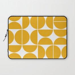 Mid Century Modern Geometric 04 Yellow Laptop Sleeve