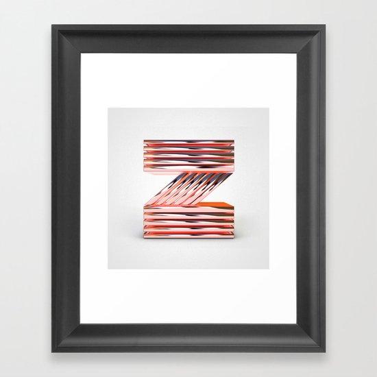 The Letter Z Framed Art Print