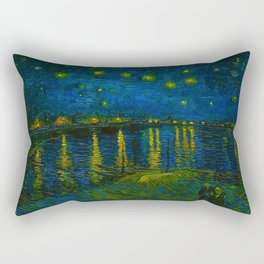 Starry Night Over the Rhône 1888 oil on canvas by Vincent van Gogh Rectangular Pillow