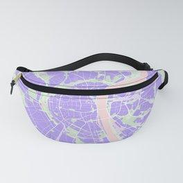 Cologne map violet Fanny Pack