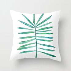 Long Palm frond Throw Pillow
