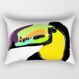 Toucan with colourful beak  Rectangular Pillow