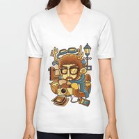 instagram V-neck T-shirts featuring Instagram by anggatantama