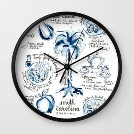 SC Cuisine Blue-and-White Wall Clock