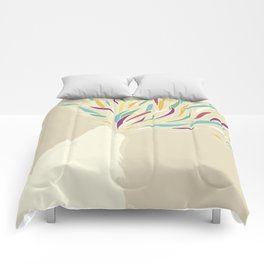 The Harlequin's Wolf Comforters