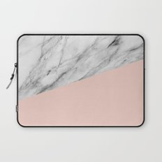 Marble and pale dogwood color Laptop Sleeve