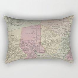 Vintage Map of Southampton NY (1873) Rectangular Pillow