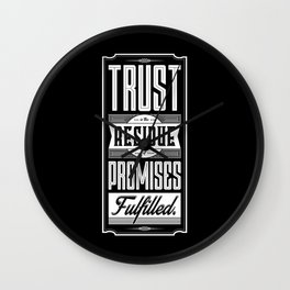 Lab No. 4 Trust Residue Of Promises Fulfilled Inspirational Quotes Wall Clock