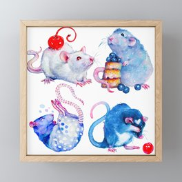 Sweet Rats Framed Mini Art Print