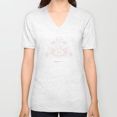 Hungarian Embroidery no.14 Unisex V-Neck
