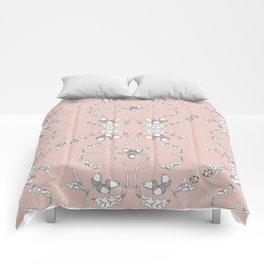 Acorns and ladybugs pink pattern Comforters