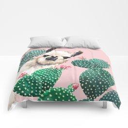 Llama and Cactus Pink Comforters